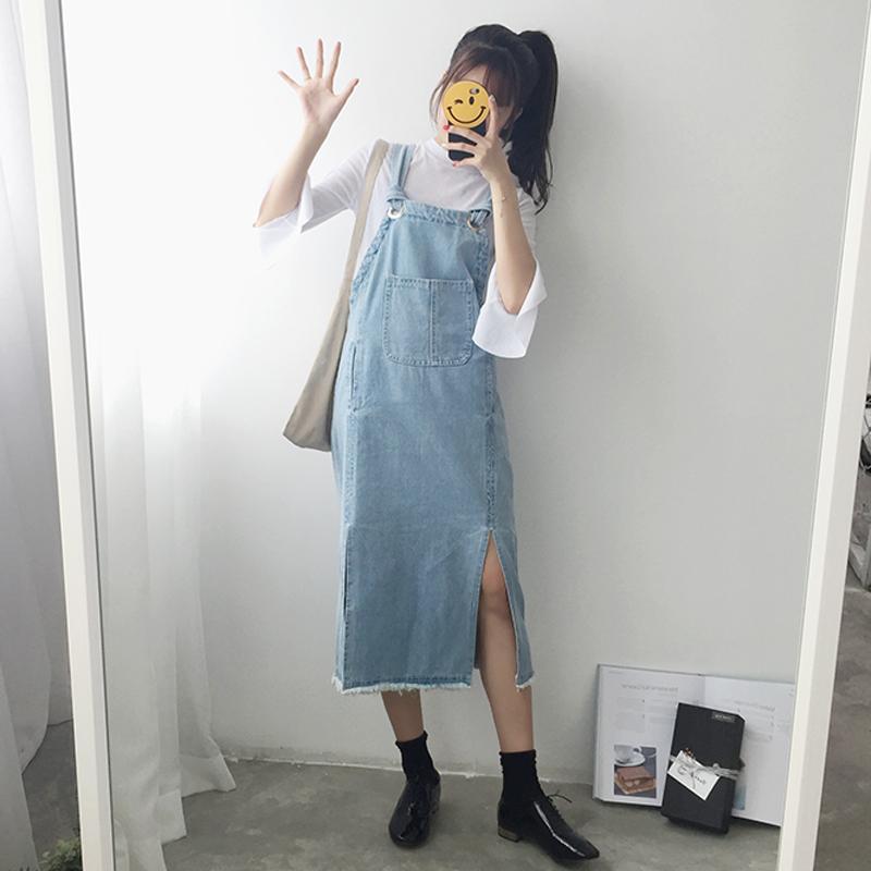 背带裙个性