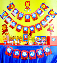 Children's birthday theme party supplies iron man Iron Man party customized birthday party