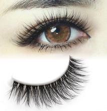 3D solid false eyelashes are naturally lifelike, thick, messy, long, super soft, T10 clean, no glue, three pairs.