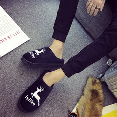 a5ef71cc8 Cotton slippers men s indoor winter tide warm non-slip thick bottom bag  with plus velvet
