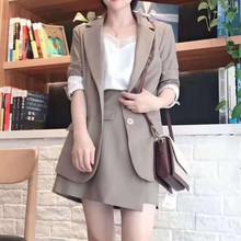 小西装 外套89119260402 韩版 银色红袖 修身 2019秋新款 休闲西服套装