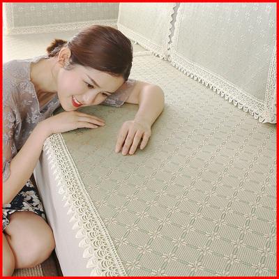 沙发垫夏季凉席凉垫欧式冰丝夏天款坐垫竹客厅皮防滑四季通用布艺