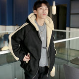 Harajuku ulzzang lamb hair padded coat jacket male winter loose Korean version of cotton jacket youth cotton clothing tide