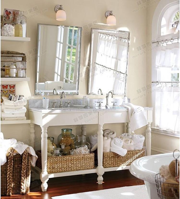 时尚简约创意浴室镜装饰镜欧式田园风格玄关镜壁饰梳妆镜 M1403