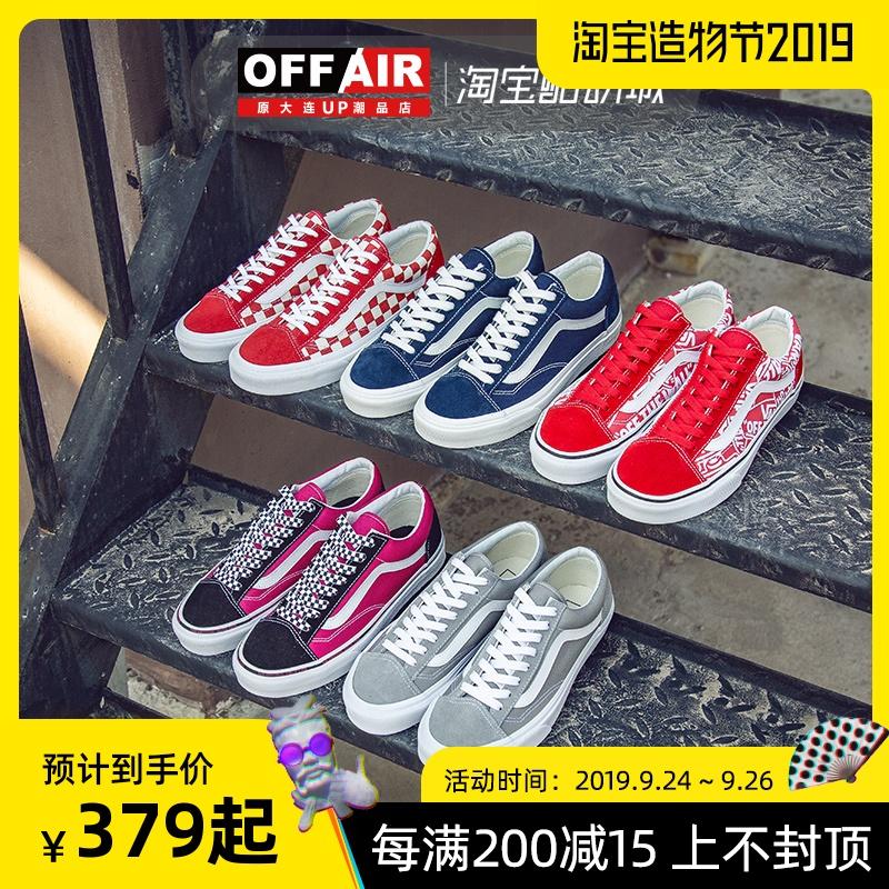 VANS范斯Style36男鞋女鞋红白格子低帮板鞋帆布鞋VN000XI0DI8蓝色