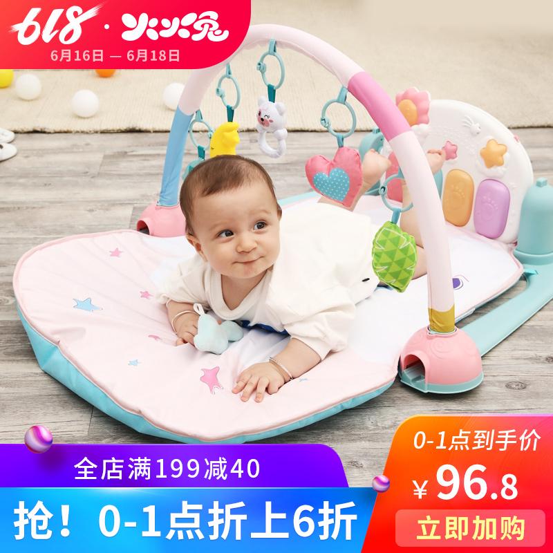 火火兔音乐健身架器婴幼儿脚踏钢琴新生儿玩具毯男女孩0-1岁