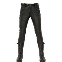 贝克汉姆同款黑色男装真皮皮裤加绒修身机车朋克皮裤防风保暖裤潮