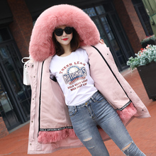 New Style 2009 Overcoming Female Fox Collar Removable Rex Rabbit Belt Lined Liner Fashion Fur Long Coat