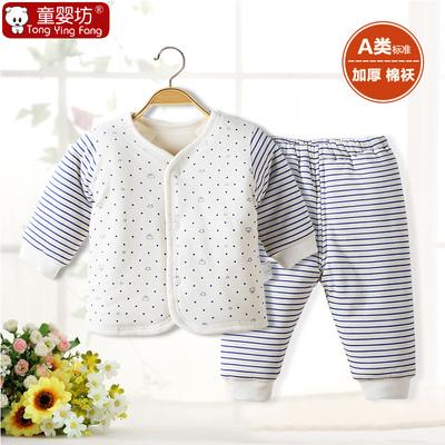 新生儿宝宝冬装套装婴儿棉袄加厚6-12个月冬季男童棉衣内衣0一1岁