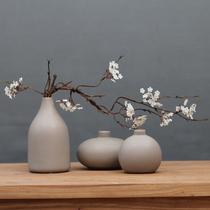 陶瓷花瓶摆件现代简约创意客厅家居软装饰品插花瓶摆设禅意花器