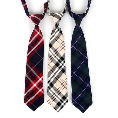 日系格子领带JK制服领带学生领带短款免打松紧带领带女英伦学院风