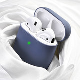AirPods Protective Headset Apple Liquid Silica Wireless Bluetooth Box AirPods 2 Ultra-thin Dust-proof Paste Airpod Tidal Shell Charging Box ins Transparent 2 Generation 1 Male Thin 2 Clean