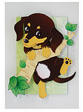 DIY hand-assembled three-dimensional paper model paper relief dog hanging wall decoration 3D paper mold origami