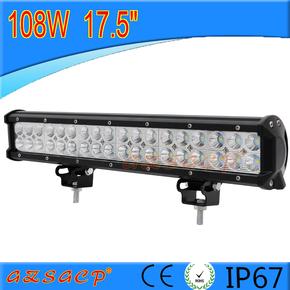 108W汽车LED长条灯/中网灯 车顶灯 越野车/远射灯 超亮改装辅助灯