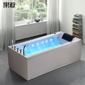 果敢亚克力冲浪按摩浴缸单人智能恒温加热大瀑布浴盆成人家用268