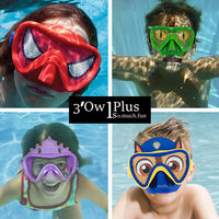 American children's large field swimming goggles mask cartoon swimming glasses boys snorkeling play water girls