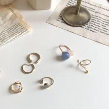 超美复古做旧设计款异形珍珠戒指冷淡风极简韩国指环百搭个性推荐