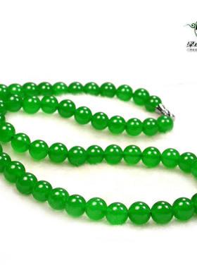 绿色石品项链