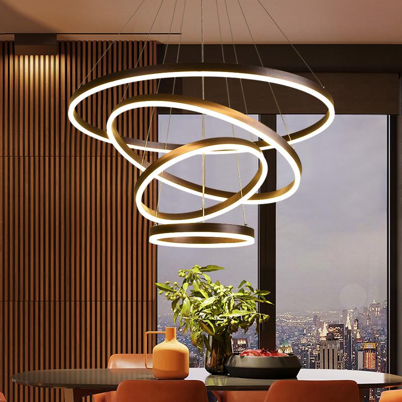 圆环客厅灯具
