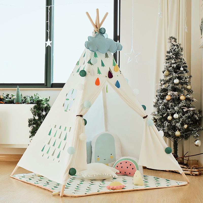 儿童小帐篷游戏屋男孩室内宝宝玩具屋印第安女孩公主房子ins帐篷