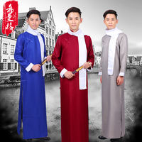 Xiangsheng clothing Daxie Allegro clothing Republic of China clothing gowns May Fourth youth students wear men's robes Ma Wei teaching