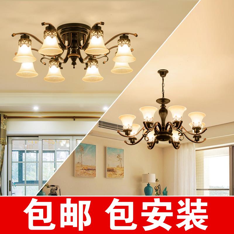 欧式客厅吊灯美式乡村