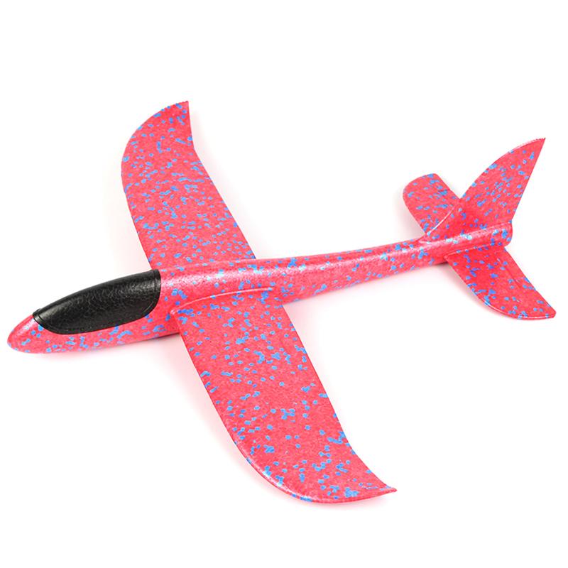 手抛泡沫软飞机耐摔滑翔机模型EPP超轻材质投掷儿童户外玩具