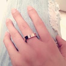 钛钢食指戒指女日韩潮人学生情侣对戒男士个性潮简约关节指环饰品
