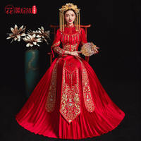 Show Wo clothing bride 2018 new wedding wedding dress Chinese wedding dress bride wedding dress ancient dragon and phoenix out service