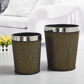 欧式创意时尚家用客厅垃圾桶田园厨房卫生间无盖塑料压圈复古中式