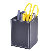 Ya Chen Shi Fashion Square Leather Pen Holder Creative Cute Multi-function Pen Bucket Korea Stationery