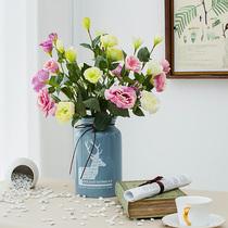 家居客厅插花搭配装饰花仿真花帝王花混合式花束绢花西西里花艺
