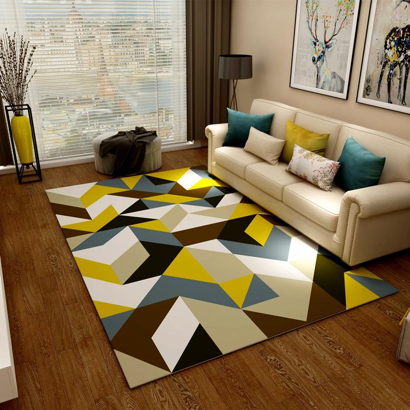 時尚格子地毯