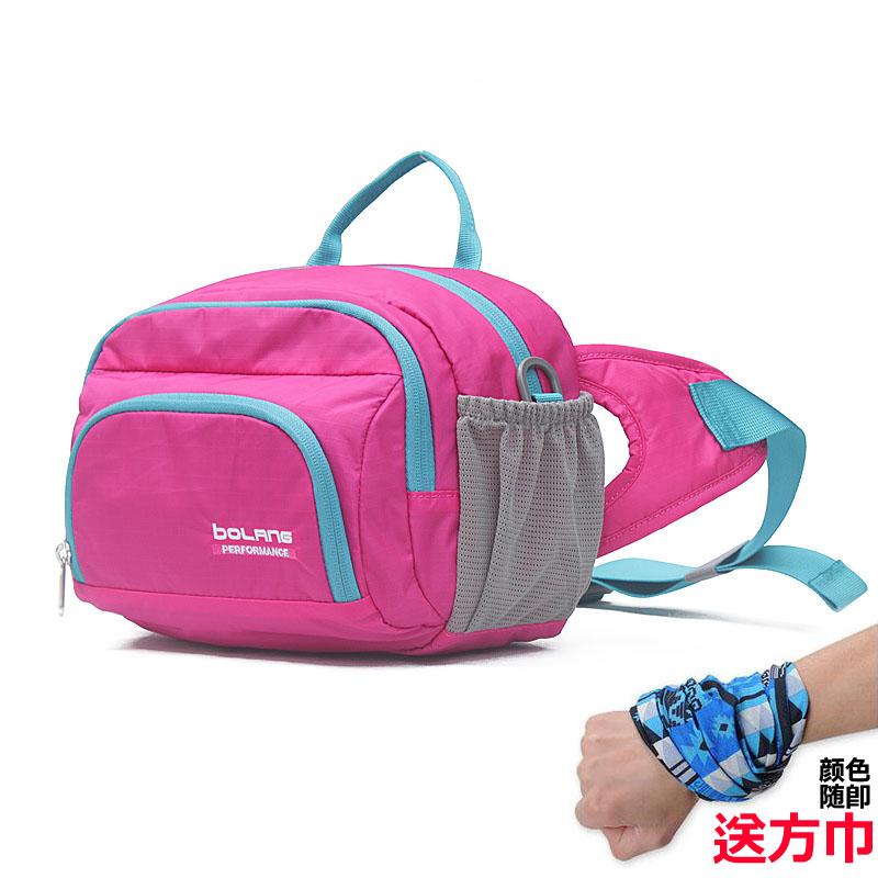 户外运动大容量腰包多功能骑行水壶单肩包男女款旅行背包收纳钱袋