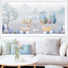 客厅卧室砖石绣2019 十字绣5d点贴钻石欧式麋鹿钻石画满钻水晶新款图片
