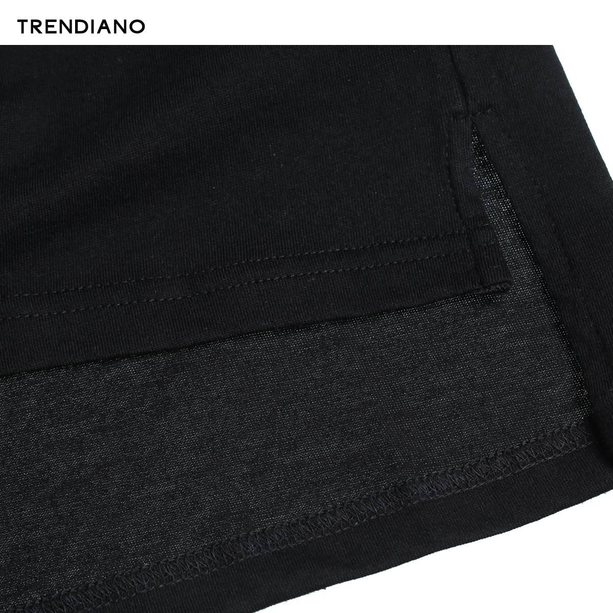 3JI1021890 恤 T 新男装夏装休闲宽松纯棉印花中长圆领短袖 TRENDIANO