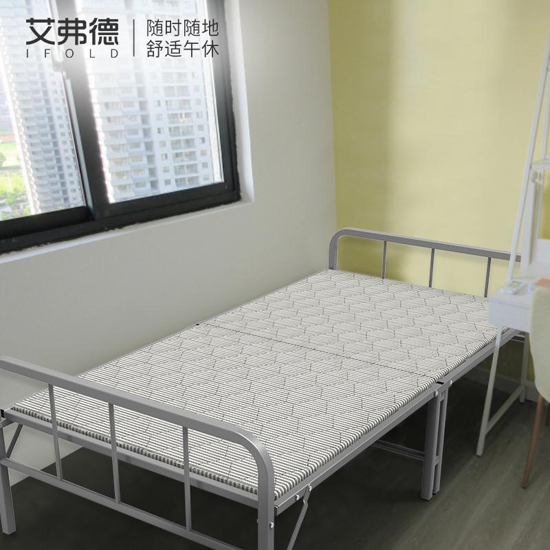 ifold单人床折叠木板床出租房专用省空间简易家用午休午睡床便携