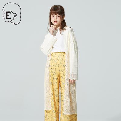 EHWG 2018春夏日系甜美风薄款镂空针织开衫防晒外套女20181D63002
