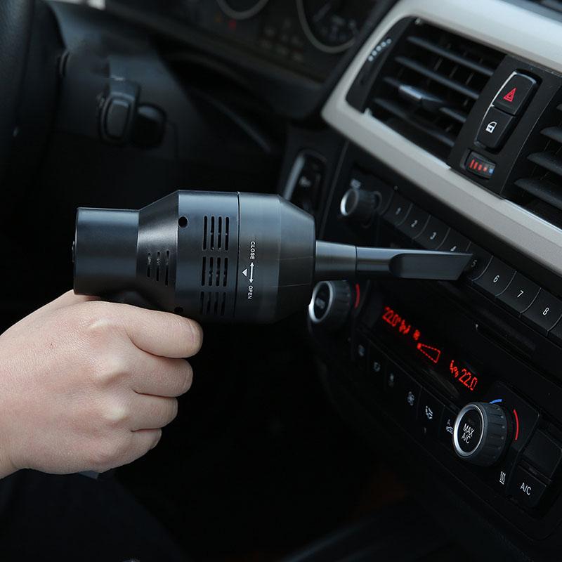 FaSoLa便携式USB车载吸尘器 家用小型迷你手持式键盘缝隙清洁刷子