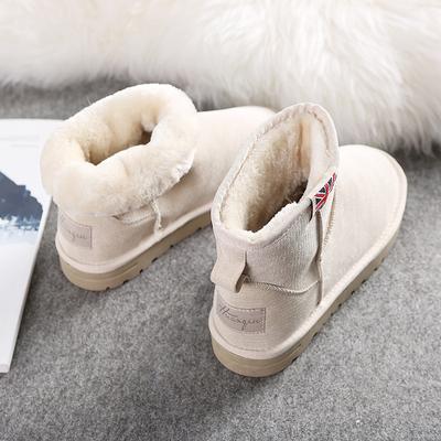 环球2018冬季新款韩版雪地靴女学生百搭短筒短靴子保暖加绒棉鞋女