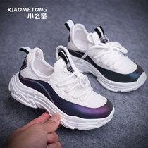 白色女童鞋网面透气休闲中大童网鞋小学生女孩夏季新款儿童运动鞋