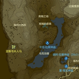 Zelda map Zelda legend map poster Chinese version Surrounded by Zelda Contains DLC Temple