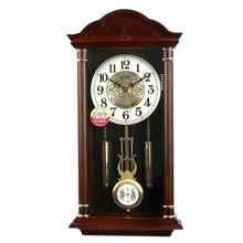 台湾得利华老式风水镇宅报时挂钟中式复古摆钟客厅静音守净械钟