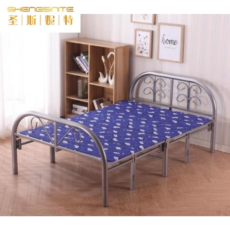 简易折办公室成人米床家用双人折叠午睡床午休单人四1.2L