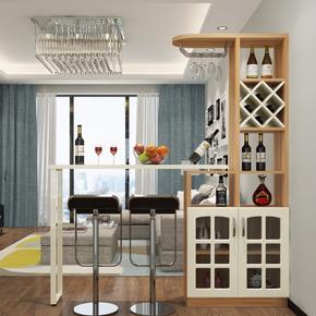 包邮玄关隔断酒柜客厅时尚间厅柜现代简约家用欧式旋转吧台桌组合