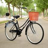 自行车男女式24寸26寸女士轻便休闲成人城市骑行学生普通勤淑女车