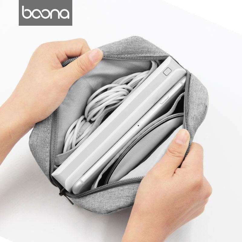 包纳手机袋子保护套移动电源充电宝布袋子小数码配件收纳包迷你图片