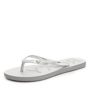 美国直邮roxy 343306女鞋夏季轻质透气白色平底夹趾人字拖鞋