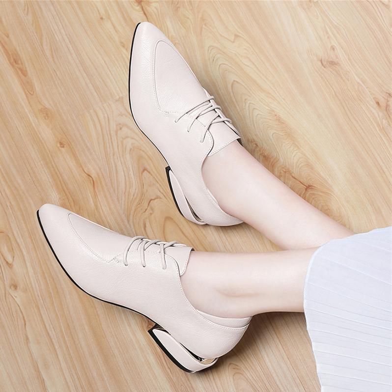 平底单鞋米色