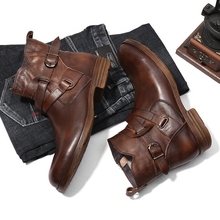 New British Men's Boots, Knights'Boots, Zippers, Belts, Street Leisure Shoes, Workwear Boots, Trendy Men's Boots